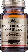 """Парфюмерия и Козметика Хранителна добавка """"Натокиназа комплекс"""", гел капсули - Solgar Health & Beauty Nattokinase Complex"""