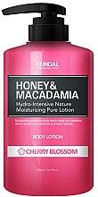 """Парфюми, Парфюмерия, козметика Лосион за тяло """"Вишнев цвят"""" - Kundal Honey & Macadamia Body Lotion Cherry Blossom"""