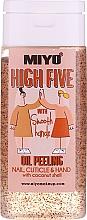 Парфюмерия и Козметика Скраб за ръце и нокти с кокосово масло - Miyo High Five Oil Peeling