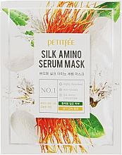 Парфюмерия и Козметика Маска за лице с копринени протеини - Petitfee&Koelf Silk Amino Serum Mask