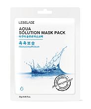 Парфюмерия и Козметика Памучна маска за лице - Lebelage Aqua Solution Mask
