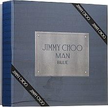 Парфюмерия и Козметика Jimmy Choo Man Blue - Комплект (тоал. вода/100ml + афтър. балсам/100ml + тоал. вода/7.5ml)
