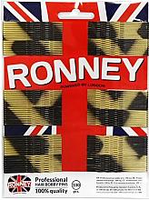 Парфюми, Парфюмерия, козметика Фиби за коса, златисто-черни 60 мм, 100 бр. - Ronney Golden-Black Hair Bobby Pins