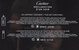 Cartier Declaration DUn Soir - Комплкет (edt/100ml + edt/mini/9ml) — снимка N5