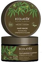 """Парфюмерия и Козметика Маска за коса """"Укрепване и текстуриране"""" - Ecolatier Organic Cannabis Hair Mask"""