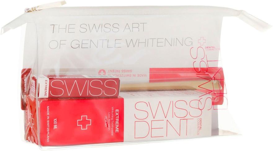 Комплект несесер, спрей за уста, паста за зъби и четка за зъби - Swissdent Extreme Promo Kit (toothpaste/50ml+mouth/spr/9ml+soft/toothbrush/1pc+bag) — снимка N1