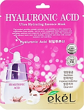 Парфюмерия и Козметика Памучна маска за лице с хиалуронова киселина - Ekel Hyaluronic Acid Ultra Hydrating Essence Mask