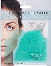 Парфюмерия и Козметика Колагенова маска със зелен чай и витамини - Beauty Face Collagen Hydrogel Mask