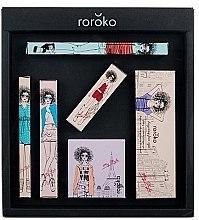 Парфюмерия и Козметика Roroko Color Muse Make-up Box (молив за вежди/0.4g + сенки/8g + очна линия/0.8g + руж/6g + спирала/8g + червило/3.5g) - Комплект за грим