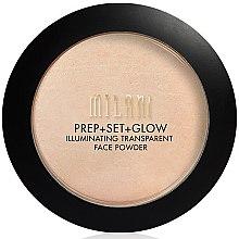 Парфюмерия и Козметика Пудра+основа+озарител за лице 3 в 1 - Milani Prep + Set + Glow Illuminating Transparent Powder