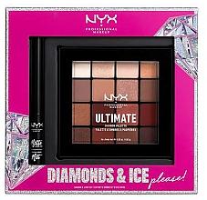 Парфюмерия и Козметика Комплект за грим - NYX Professional Makeup Diamonds & Ice Please Shadow & Liner Set (палитра сенки/16x1.18g+очна линия/2ml)