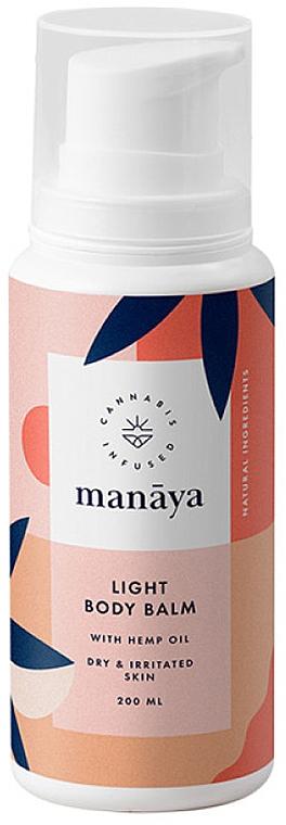 Лек балсам за тяло с конопено масло - Manaya Light Body Balm With Hemp Oil — снимка N1