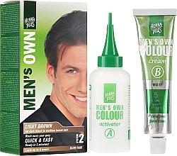 Парфюмерия и Козметика Боя за коса за мъже - Henna Plus Men Own Hair Colouring