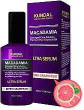 """Парфюми, Парфюмерия, козметика Серум за коса """"Розов грейпфрут"""" - Kundal Macadamia Pink Grapefruit Ultra Serum"""