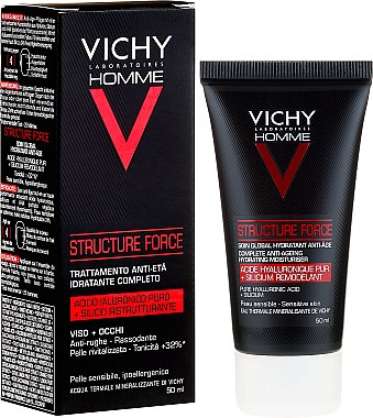 Флуид за лице - Vichy Homme Structure Force Complete Anti-ageing Hydrating Moisturiser — снимка N1