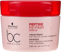 Парфюмерия и Козметика Възстановяваща маска за тънка и нормална увредена коса - Schwarzkopf Professional BC Bonacure Peptide Repair Rescue Treatment Mask