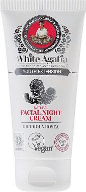 """Нощен крем за лице """"Дълга младост"""" 35-50 години - Рецептите на баба Агафия White Agafia Natural Facial Night Cream — снимка N2"""