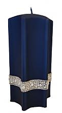 """Парфюмерия и Козметика Декоративна свещ """"Звезда"""", синя, 9х18см - Artman Crystal Opal Pearl"""