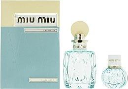 Парфюмерия и Козметика Miu Miu L'Eau Bleue - Комплект парфюмна вода (edp/100ml + edp/20ml)