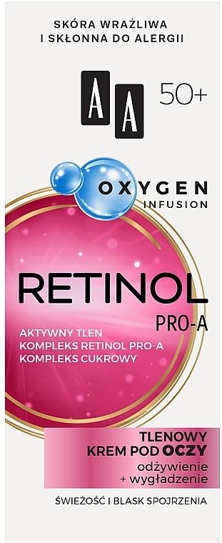 Кислороден крем за околоочния контур 50+ - AA Oxygen Infusion Retinol Pro-A Eye Cream