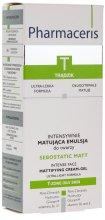 Парфюми, Парфюмерия, козметика Интензивен матиращ крем за лице - Pharmaceris T-Sebostatic Matt Mattifying Cream-Gel