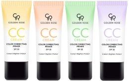 Парфюмерия и Козметика Изглаждащ СС крем за лице - Golden Rose CC Cream Color Correcting Primer