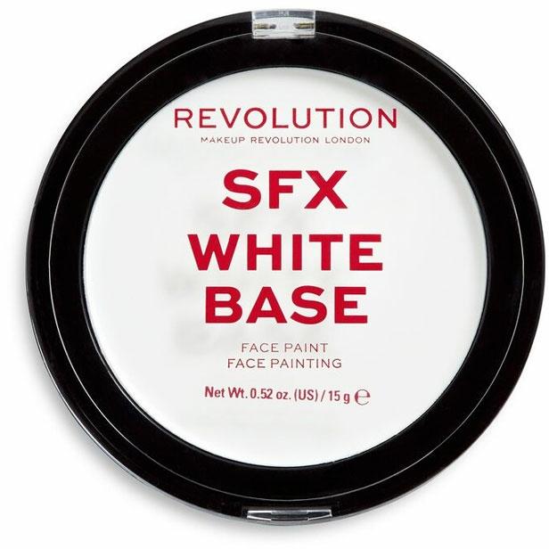 Избелваща основа-пудра за грим - Makeup Revolution Halloween SFX White Cream Face Base — снимка N1