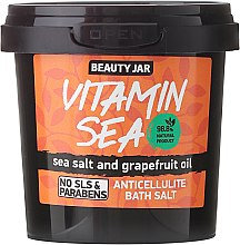 """Парфюми, Парфюмерия, козметика Антицелулитни соли за вана с морска сол с масло от грейпфрут """"Vitamin Sea"""" - Beauty Jar Anticellulite Bath Salt"""