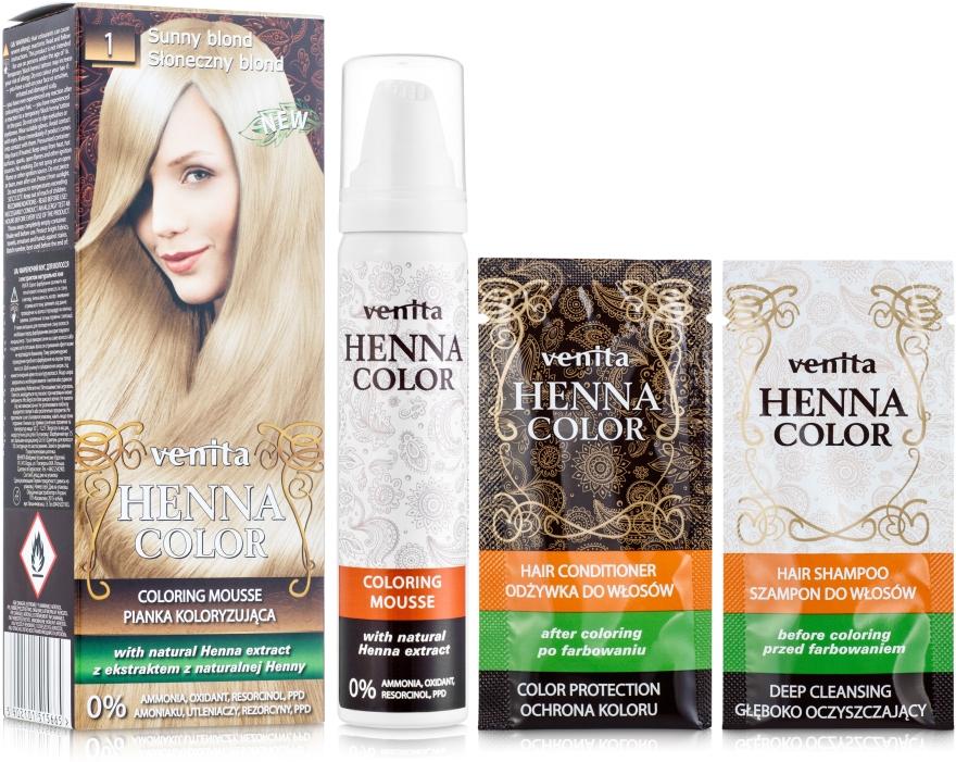 Мус-боя за коса - Venita Henna Color Coloring Mousse