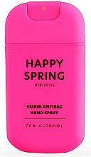 Парфюмерия и Козметика Дезинфекциращ спрей за ръце с хибускус - HiSkin Antibac Hand Spray Happy Spring