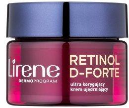 Парфюми, Парфюмерия, козметика Нощен крем за корекция на бръчките - Lirene Retinol D-Forte Firming Night Cream For Correction Of Wrinkles 50+