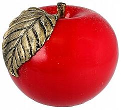 """Парфюмерия и Козметика Парафинова декоративна свещ """"Ябълка"""", 8 см, червена - Artman"""