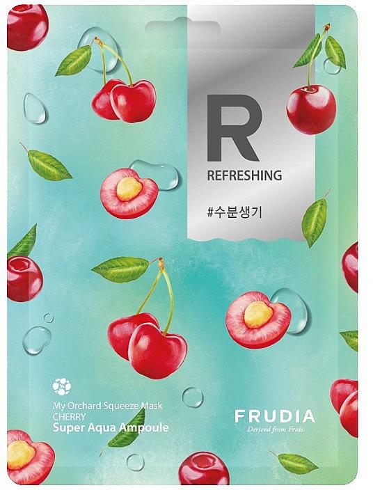 Освежаваща памучна маска за лице с череша - Frudia My Orchard Squeeze Mask Cherry — снимка N1