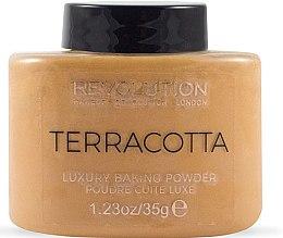 Парфюми, Парфюмерия, козметика Пудра за лице - Makeup Revolution Terracotta Luxury Baking Powder