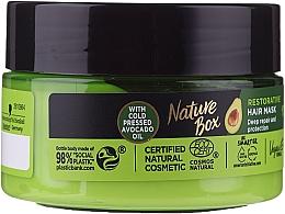 Парфюмерия и Козметика Интензивна възстановяваща маска за коса с авокадово масло - Nature Box Avocado Oil Maska