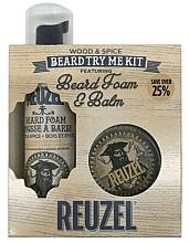 Парфюмерия и Козметика Комплект за брада - Reuzel Wood and Spice Beard Try Me Kit (балсам/35g + пяна/70ml )