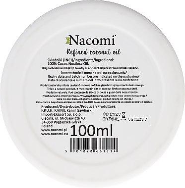 Рафинирано кокосово масло - Nacomi Coconut Oil 100% Natural Refined — снимка N3
