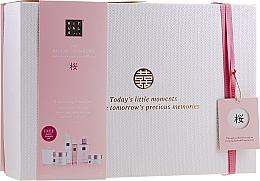 Парфюмерия и Козметика Комплект за тяло - Rituals The Ritual of Sakura Ceremony XL (скраб/250ml + душ гел/200ml + крем/200ml + сапун/300ml + спрей/50ml + свещ/290g)