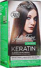 Парфюмерия и Козметика Комплект за коса - Kativa Keratin Anti-Frizz Xtra Shine (h/mask/150ml + shmp/30ml + h/cond/30ml)