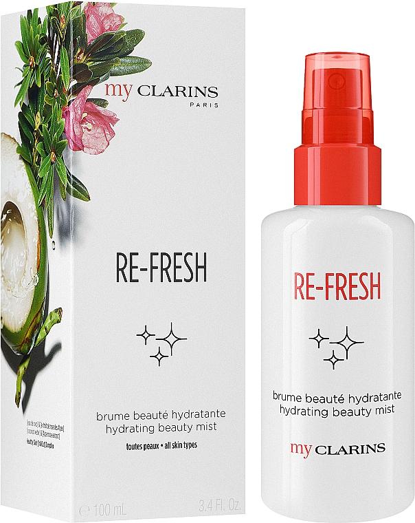 Освежаващ и хидратиращ спрей за лице - Clarins My Clarins Re-Fresh Hydrating Beauty Mist — снимка N2