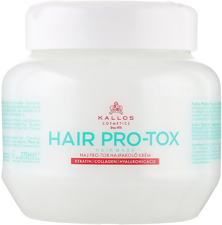 Маска за коса с кератин, колаген и хиалуронова киселина - Kallos Cosmetics Pro-Tox Hair Mask