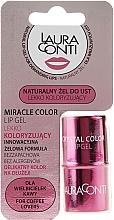 Парфюмерия и Козметика Хидратиращ гел за устни с розов оттенък - Laura Conti Miracle Color Lip Gel