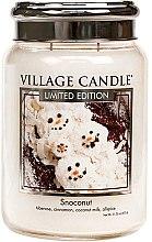 Парфюми, Парфюмерия, козметика Ароматна свещ в бурканче - Village Candle Snoconut Glass Jar