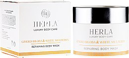 Парфюми, Парфюмерия, козметика Маска за тяло с гинко билоба и бяла черница - Herla Luxury Body Care Gingko Biloba & White Mulberry Body Mask