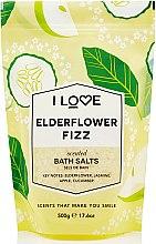 Парфюмерия и Козметика Соли за вана с аромат на коктейл от бъз - I Love Elderflower Fizz Bath Salt