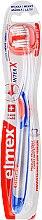 Парфюмерия и Козметика Мека четка за зъби, прозрачна със синьо-оранжево - Elmex Toothbrush Caries Protection InterX Soft Short Head
