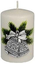 """Парфюми, Парфюмерия, козметика Декоративна свещ """"Сребърна коледна камбана"""", 7x10 cm - Artman Christmas Bell Candle"""