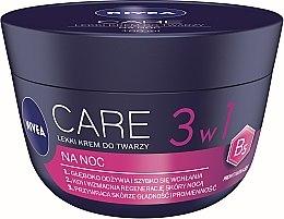 Парфюми, Парфюмерия, козметика Лек нощен крем за лице - Nivea Care Night Light Face Cream