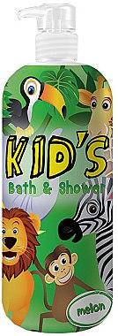 Гел-пяна за душ и вана - Hegron Kid's Melon Bath & Shower — снимка N1