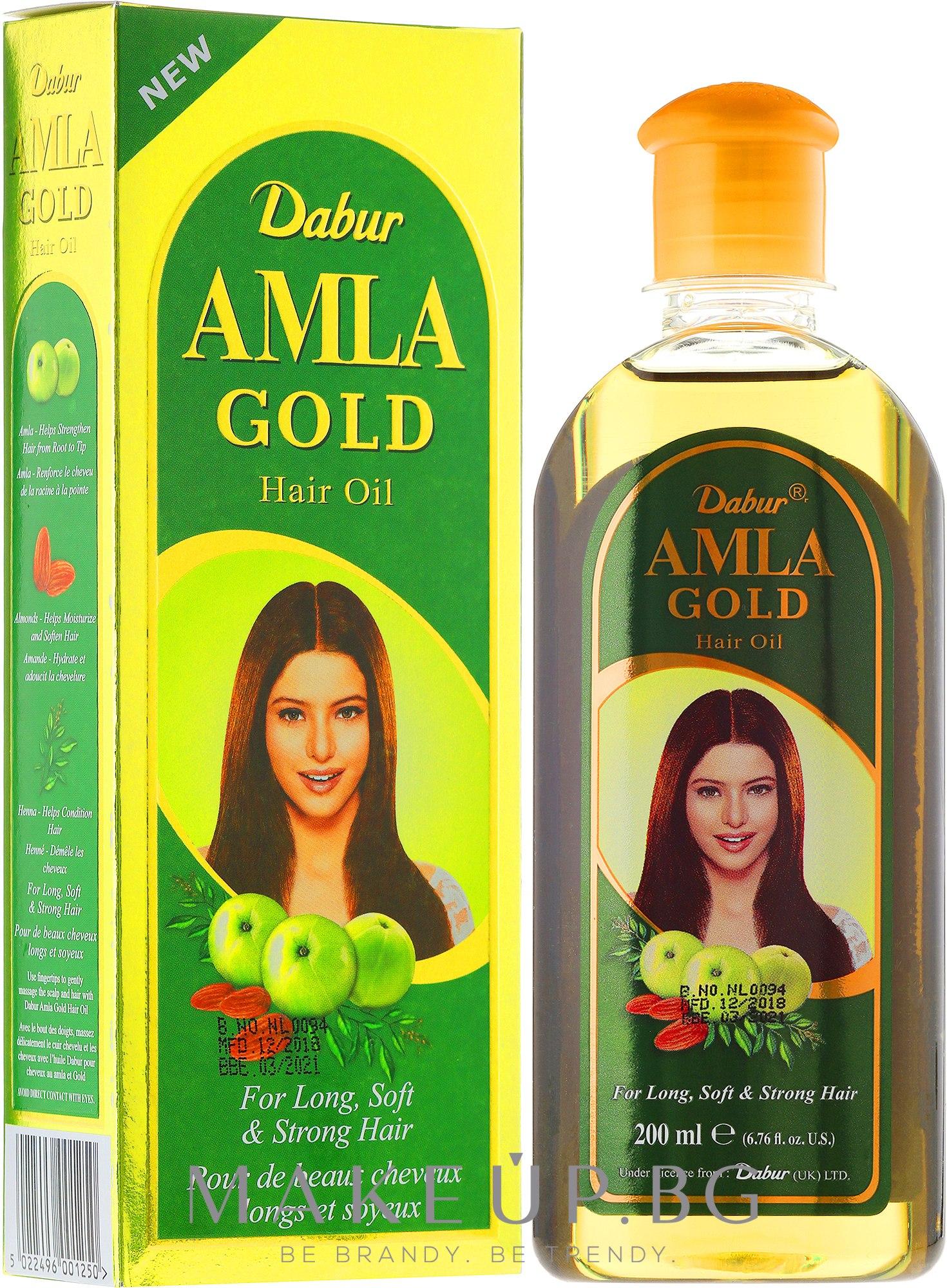 "Масло за коса ""Злато"" - Dabur Amla Gold Hair Oil — снимка 200 ml"